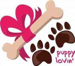 Puppy Lovin print art