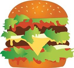 Cheeseburger print art