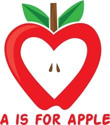 A For Apple print art