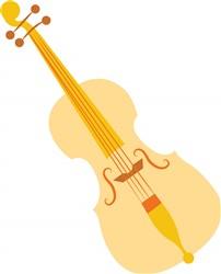Violin print art