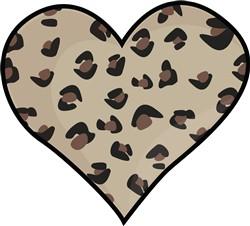 Leopard Heart print art