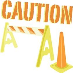Caution print art