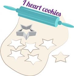 I Heart Cookies print art