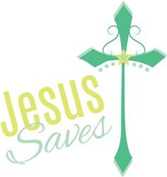 Jesus Saves print art