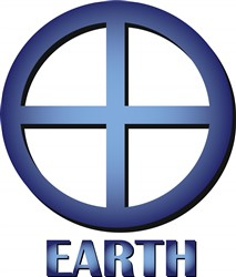 Earth print art