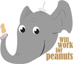 Elephant Peanut print art