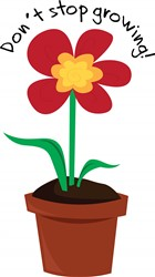 Growing Flower print art