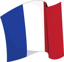 French Flag print art