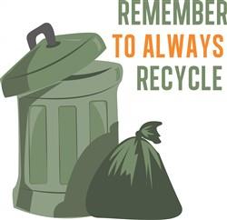 Remember Recycle print art