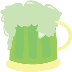Green Beer print art