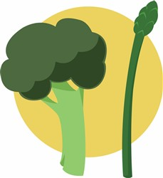 Broccoli Asparagus print art