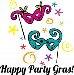 Happy Party Gras print art