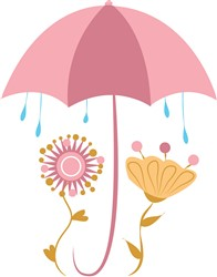 Rainy Flowers print art