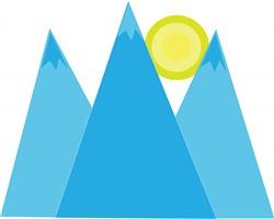 Mountains print art