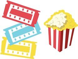 Movie Popcorn print art
