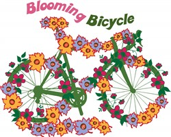 Blooming Bicycle print art