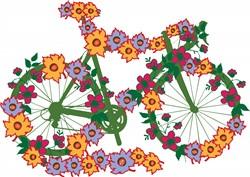 Floral Bicycle print art