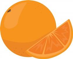 Orange print art