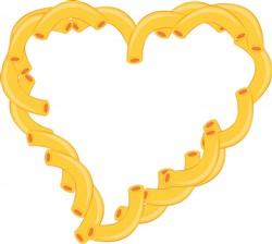 Macaroni Heart print art