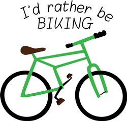 Rather Be Biking print art