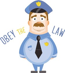 Obey The Law print art