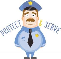 Protect And Serve print art