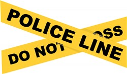 Police Line print art
