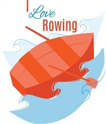 Love Rowing print art