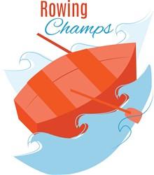Rowing Champs print art