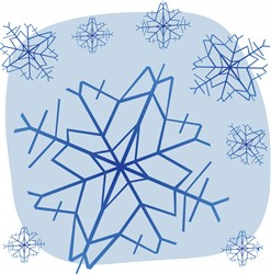 Snowflakes print art