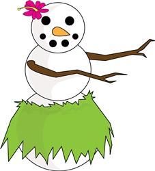 Hula Snowman print art