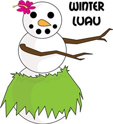 Winter Luau print art
