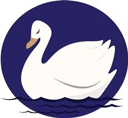 Swan print art