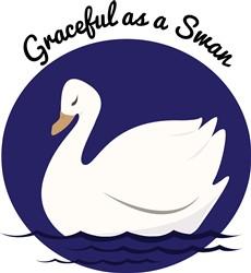 Graceful Swan print art