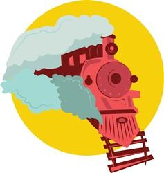 Locomotive print art
