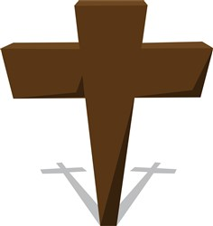 Religious Cross print art