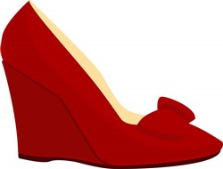 Red Shoe print art