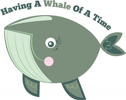 Whale Of A Time print art