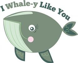 Whale-y Like You print art