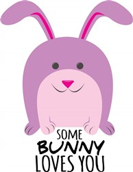 Bunny Loves You print art