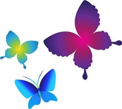 Colorful Buttlerflies print art