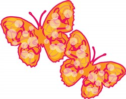 Two Butterflies print art