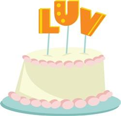 Luv Cake print art