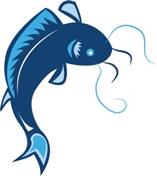 Catfish print art