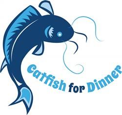 Catfish For Dinner print art