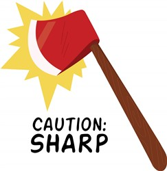 Caution Sharp print art