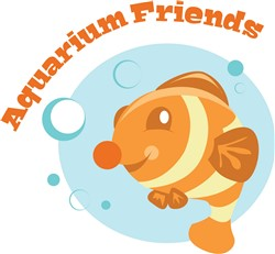 Aquarium Friends print art