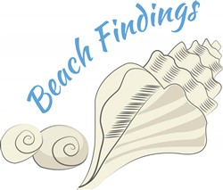 Beach Findings print art