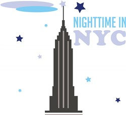 Nightime In NYC print art