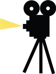 Movie Camera print art